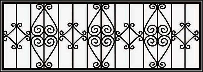 Ограда сварная ОС №13.<br />Секция высотой от 900 до 1050 мм.