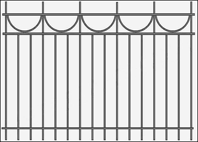 Стальной сварной забор ЗСВ №6. <br />Заполнение забора: по вертикали – профиль 15х15 (можно заменить на цельнометаллический квадрат 10 или 12 мм., или профиль 20*20 мм.)<br />Верхние горизонтали – профиль 15х15 мм.<br />Нижние горизонтали - полоса 20х4 мм., с двух сторон.