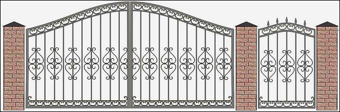 Ворота кованые ВКВ №1