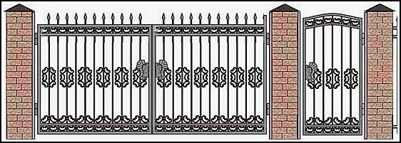 Ворота кованые ВКВ №2