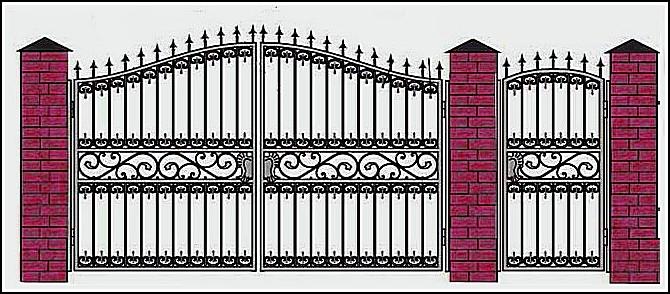 Ворота кованые ВКВ №3