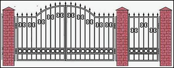 Ворота кованые ВКВ №4