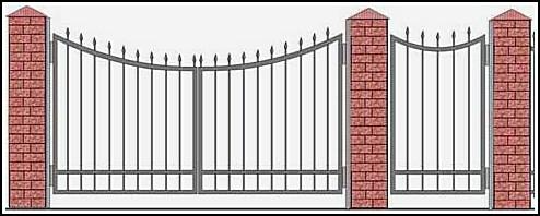 Ворота кованые ВКВ №5