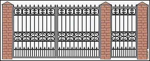 Ворота кованые ВКВ №6