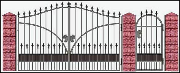 Ворота кованые ВКВ №7
