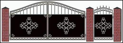 Ворота кованые ВКВ №8