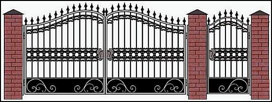 Ворота кованые ВКВ №9