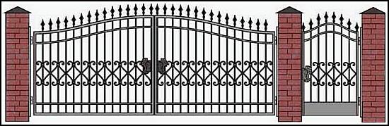 Ворота кованые ВКВ №10