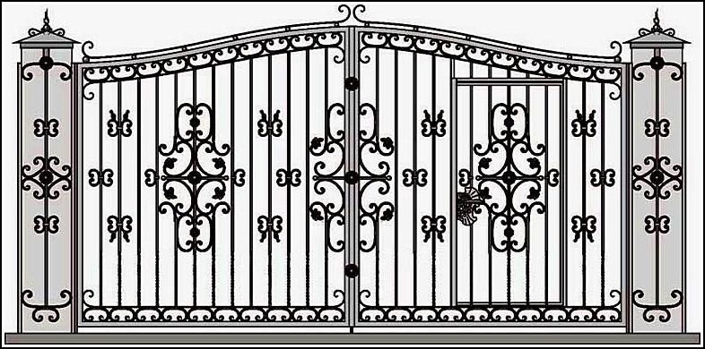 Ворота кованые ВКВ №11