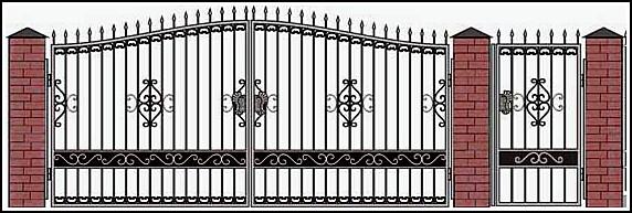 Ворота кованые ВКВ №12