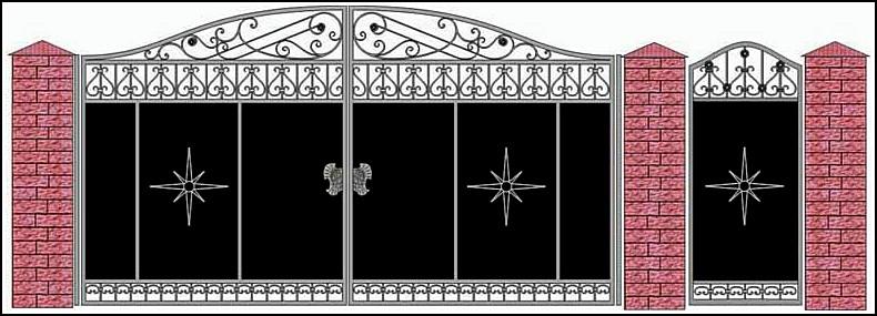 Ворота кованые ВКВ №13