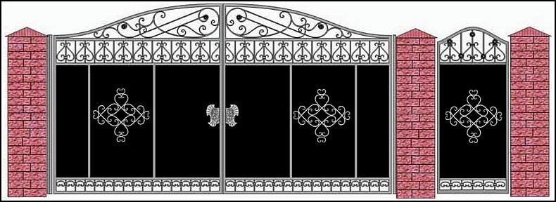 Ворота кованые ВКВ №14