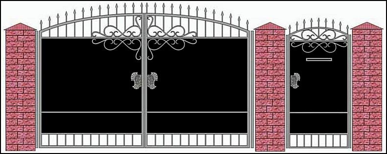 Ворота кованые ВКВ №15