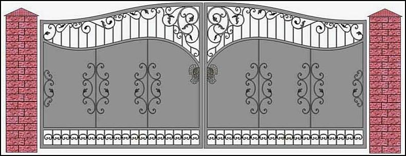 Ворота кованые ВКВ №16