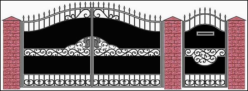 Ворота кованые ВКВ №17