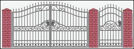 Ворота кованые ВКВ №18