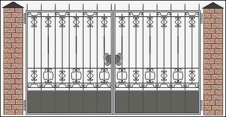 Ворота кованые ВКВ №19