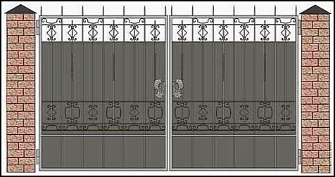 Ворота кованые ВКВ №20
