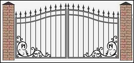 Ворота кованые ВКВ №21