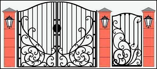 Ворота кованые ВКВ №22