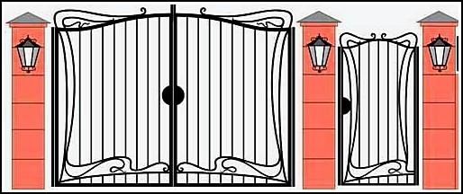 Ворота кованые ВКВ №24