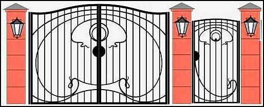 Ворота кованые ВКВ №25