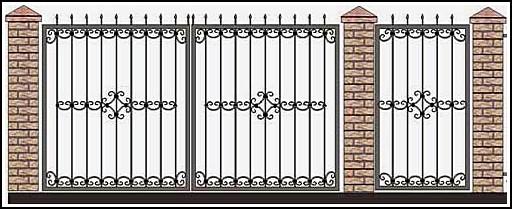 Ворота кованые ВКВ №26