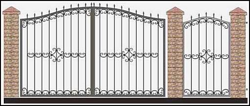 Ворота кованые ВКВ №27