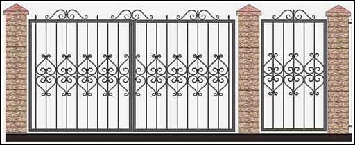 Ворота кованые ВКВ №28