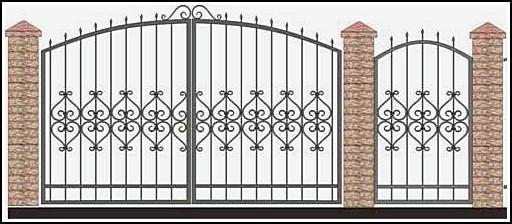 Ворота кованые ВКВ №30