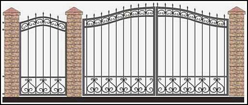 Ворота кованые ВКВ №31