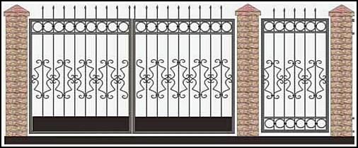 Ворота кованые ВКВ №32