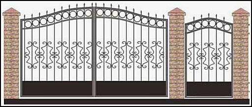 Ворота кованые ВКВ №33