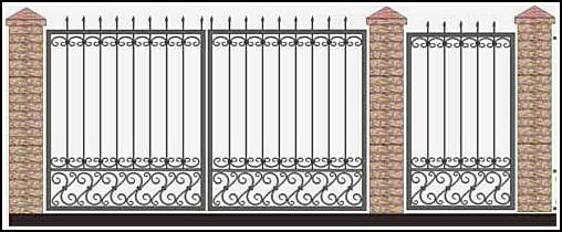 Ворота кованые ВКВ №34