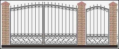 Ворота кованые ВКВ №35