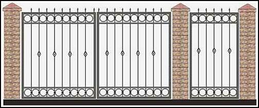 Ворота кованые ВКВ №36
