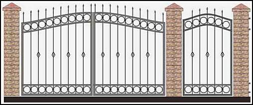 Ворота кованые ВКВ №37