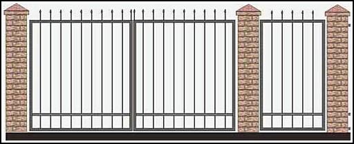 Ворота кованые ВКВ №38