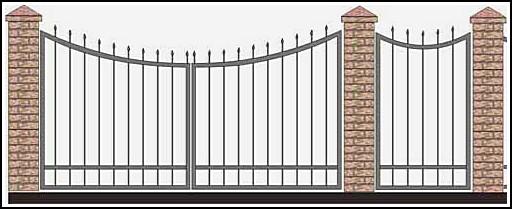 Ворота кованые ВКВ №39