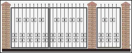 Ворота кованые ВКВ №40