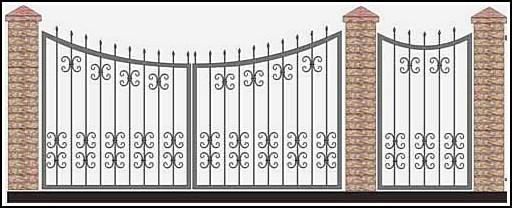 Ворота кованые ВКВ №41