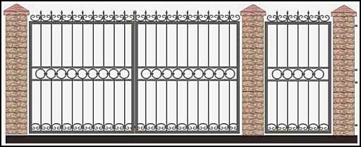Ворота кованые ВКВ №42