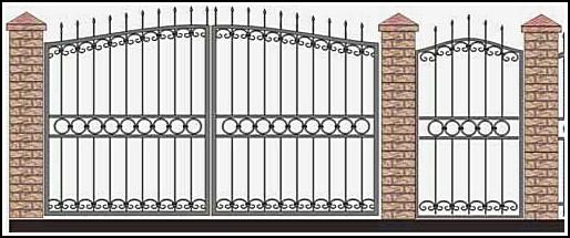 Ворота кованые ВКВ №43