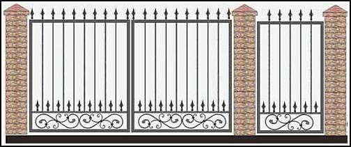 Ворота кованые ВКВ №44