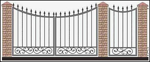 Ворота кованые ВКВ №45