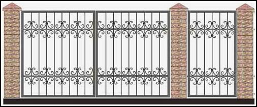 Ворота кованые ВКВ №46