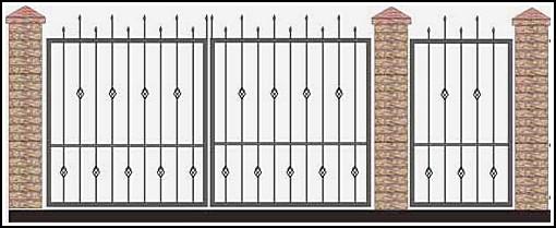 Ворота кованые ВКВ №47