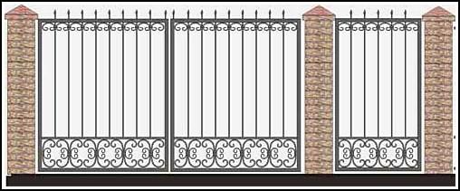 Ворота кованые ВКВ №48