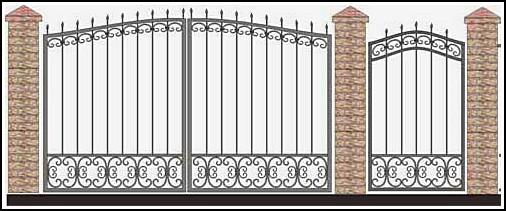 Ворота кованые ВКВ №49