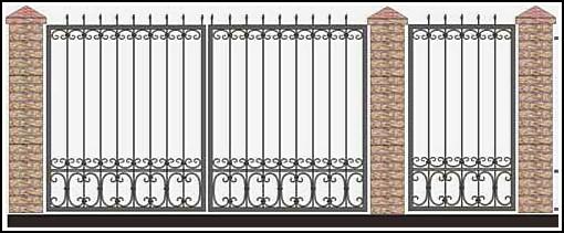 Ворота кованые ВКВ №50